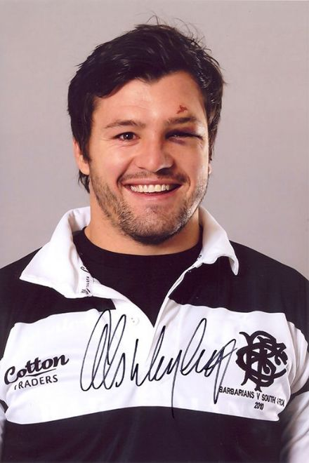 Adam Ashley-Cooper, Barbarians, signed 12x8 inch photo.